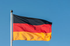German flag. Waving in the wind stock photography