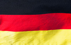German flag in the wind close-up Royalty Free Stock Photography