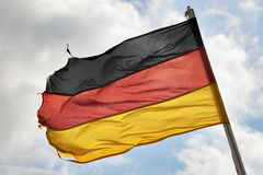German flag in wind Stock Photo