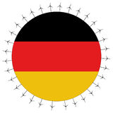 German flag with wind turbines Royalty Free Stock Photo