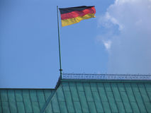 German flagg. On the Adlon Hotel, berlin Royalty Free Stock Images