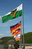 German Flags royalty free stock image