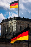German flags Reichstag Royalty Free Stock Photo