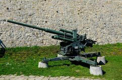 German Flak 38 105 mm anti-aircraft gun at Belgrade Military Museum Serbia Royalty Free Stock Image