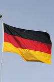 German flapping. The german flag flapping in the wind Stock Photography