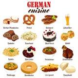 German Food Cuisine Illustration Royalty Free Stock Photography