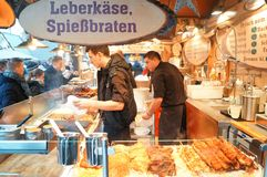 German Food Stall at the Market Stock Photography