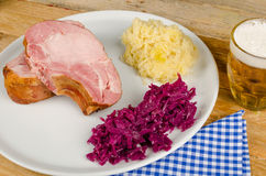 German food still life, with beer Royalty Free Stock Images