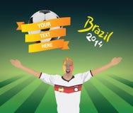 German football fan Royalty Free Stock Photos