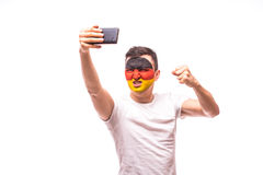 German football fan take selfie Stock Photography