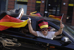 GERMAN FOOTBALL fans Royalty Free Stock Images