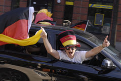 GERMAN FOOTBALL fans Royalty Free Stock Photo