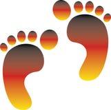 German footprint Royalty Free Stock Images