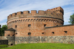German fort Der Dona � fortress of Koenigsberg (until 1946) Royalty Free Stock Photos