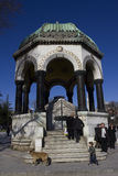 German fountain in the Istanbul, Turkey. The German Fountain is a gazebo styled fountain in the northern end of old hippodrome (Sultanahmet Square&#x29 stock photo