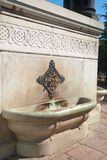The German Fountain in Istanbul, Turkey. The German Fountain in the northern end of old hippodrome in Istanbul, Turkey royalty free stock images