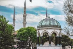 German fountain in Sultanahmet in Istanbul, Turkey royalty free stock photo