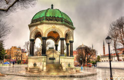 German Fountain on Sultanahmet Square in Istanbul. Turkey Stock Photo