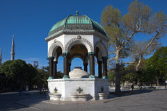 German Fountain in Sultanahmet Square. Istanbul. Turkey. Gift of the German Emperor Wilhelm II to the Turkish Sultan Abdul Hamid II. The fountain is made in neo royalty free stock image