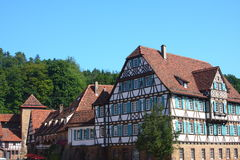 German Frame House. Which is part of the Maulbronn monastery, Germany Royalty Free Stock Photo