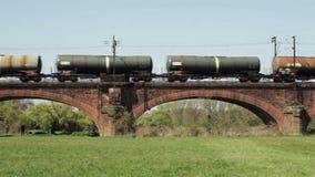 German freight train stock video
