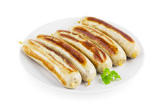 German fried sausages Royalty Free Stock Images
