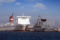 German war ship Stock Image