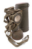 German gas mask with case. Royalty Free Stock Photos