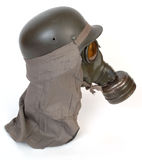 German gas mask and steel helmet Stock Photos