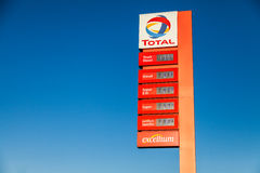 German gas station price sign Royalty Free Stock Images
