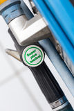 German gas station Super unleaded Royalty Free Stock Photography
