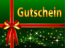 German Gift Certificate Stock Photo