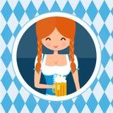 German girl circle avatar portrait. Stock Photo
