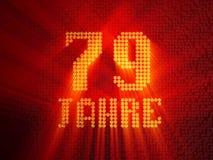 German golden number seventy-nine years. 3D render royalty free illustration