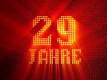 German golden number twenty-nine years. 3D render vector illustration