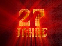 German golden number twenty-seven years. 3D render royalty free illustration