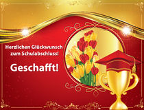 German graduation greeting card, also for print Stock Photo