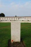 German graves at Tynecote cemetery, Belgium Royalty Free Stock Image