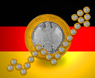 German growth Flag Stock Image