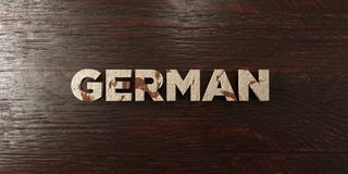 German - grungy wooden headline on Maple  - 3D rendered royalty free stock image Royalty Free Stock Photos