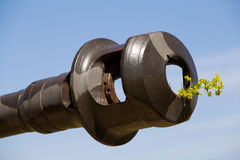 German gun barrel from WWII. Royalty Free Stock Photography