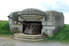 German gun battery Royalty Free Stock Image