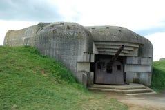 German gun battery at Longues-sur-Mer. Normandy Royalty Free Stock Photography