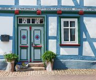 German Half-timbered house Stock Image