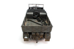 German half-track model rear view Stock Photography