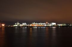 Oil refinery terminal Royalty Free Stock Photography