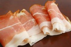 German hams. Fresh slices of german hams Stock Photography