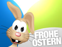 German Happy Easter Frohe Ostern. Figure cartoon Stock Photo