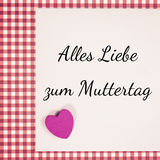 German for happy mothers day Royalty Free Stock Photography