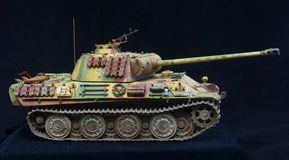 German heavy tank of WWII. model royalty free stock photography